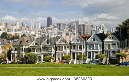 Victorian Houses, San Francisco, Usa