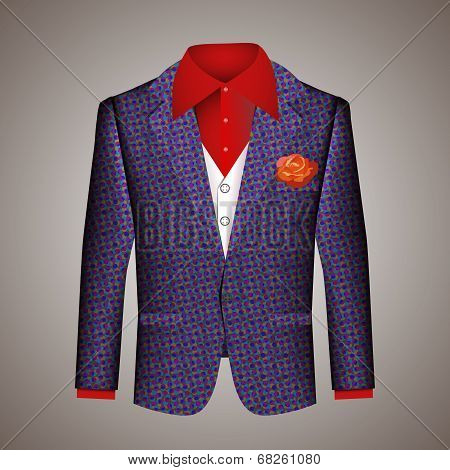 Hipster suit of mens clothing
