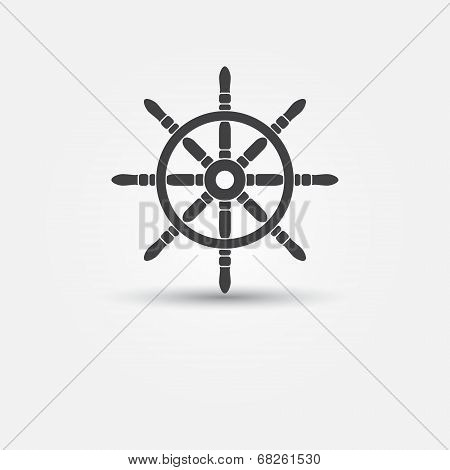 Steering wheel - vector symbol or icon