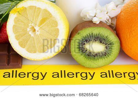 Allergenic food close-up