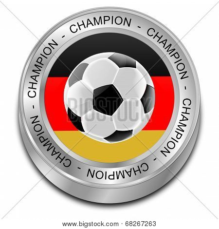 Soccer ball with german flag Champion