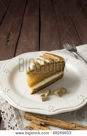 Slice Of Melon And Caramel Cake