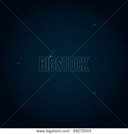 Night Starry Sky Vector Background
