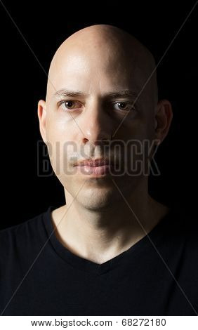 Low-key Portrait Of A Man