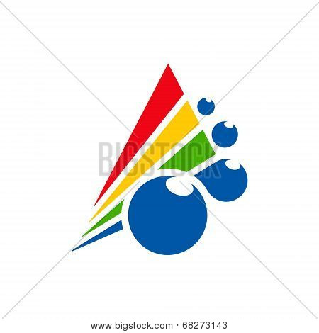Abstract Color Printer Sign