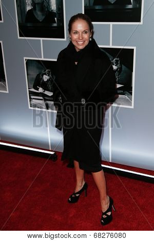 NEW YORK-JAN 12: Katie Couric attends 'Beautiful - The Carole King Musical' Broadway Opening Night at Stephen Sondheim Theatre on January 12, 2014 in New York City.