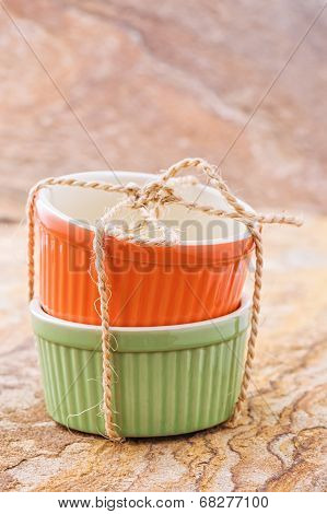 Orange And Green Cocotte