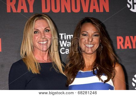 LOS ANGELES - JUL 9:  Cindy Ambuehl, Eva LaRue at the