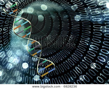 Binary Tunnel And Dna Strand