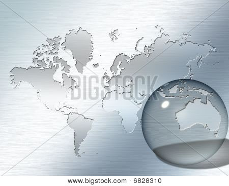 Glass Sphere Focus On Australia