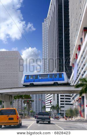 Downtown Miami Urban City Skyscrapers Buildings