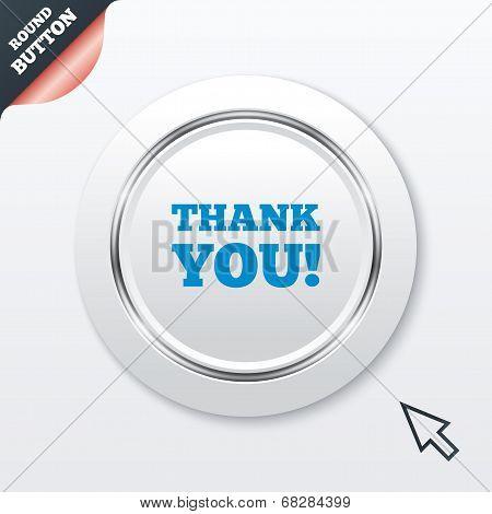 Thank you sign icon. Gratitude symbol.