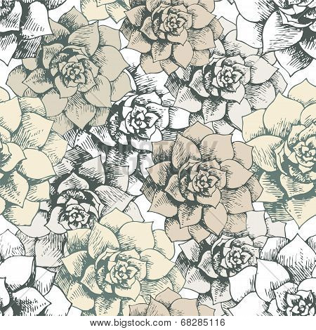 Vintage seamless flower pattern