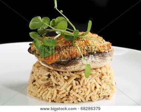 Stuffed Mushroom And Rice
