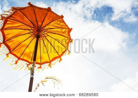 traditions umbrella in temple of Bali
