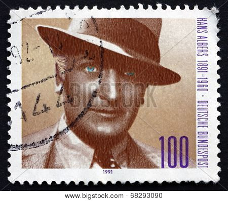 Postage Stamp Germany 1991 Hans Albers, Actor And Singer