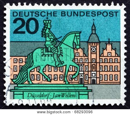 Postage Stamp Germany 1964 Jan Wellem Statue, Dusseldorf