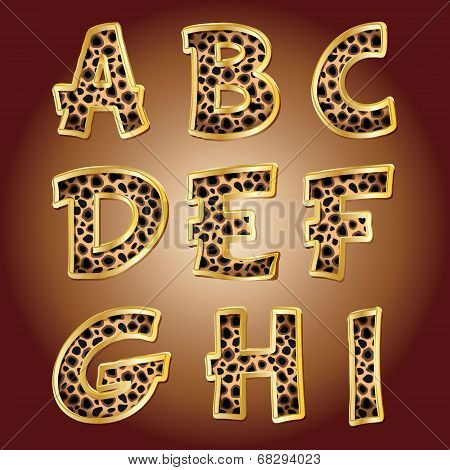 Leopard letters. Vector.