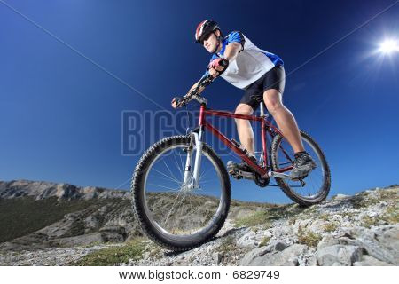 Riding a bike down style