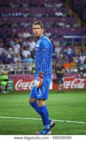 Goalkeeper Maarten Stekelenburg Of Netherlands