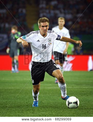 Philipp Lahm Of Germany Controls A Ball