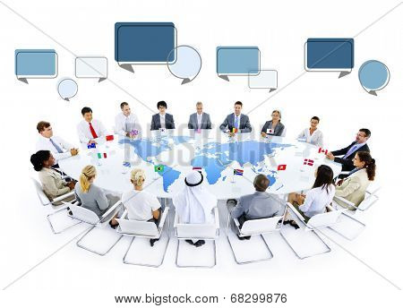 Multiethnic Group of Business People Meeting