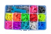 picture of loom  - Box with colorful rubber bands for rainbow loom - JPG
