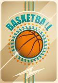 stock photo of basketball  - Basketball poster design - JPG