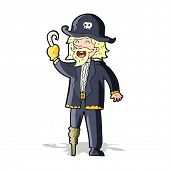image of peg-leg  - cartoon pirate captain - JPG