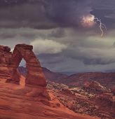 foto of arch  - Delicate Arch in Arches National Park - JPG