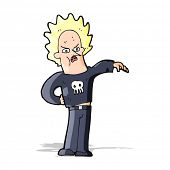 stock photo of nasty  - cartoon nasty boy - JPG
