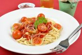 Home Made Spaghetti With Organic Baby Tomatoes poster