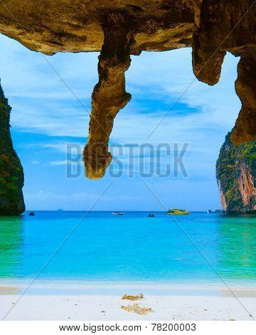 Exotic Beach Grotto Landscape
