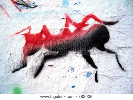 grafitti stencil ant