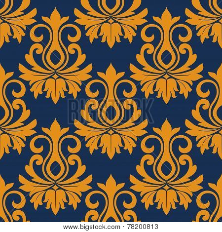 Symmetric golden flowers pattern