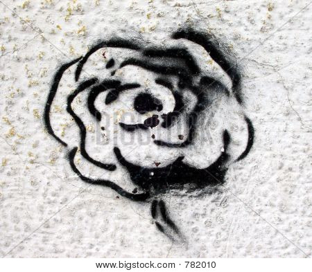 grafitti stencil rose
