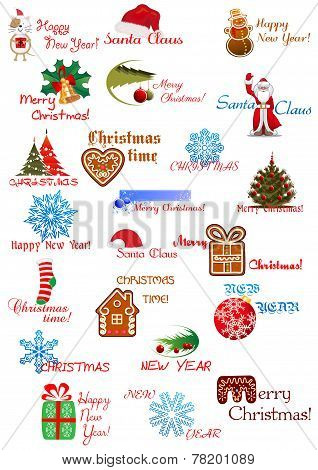 Christmas and New Year elements set