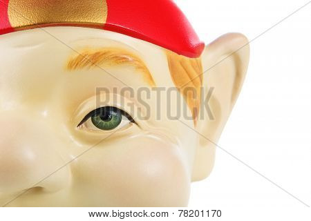 Closeup of an Elf or Gnome costume