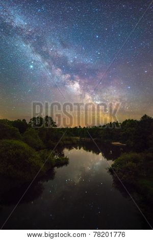 Milky Way over a small river