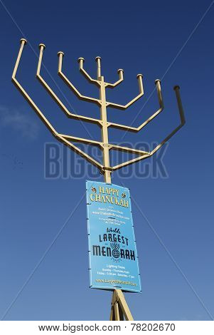 World largest Menorah at Grand Army Plaza in Brooklyn