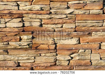 Stone Stucco Wall