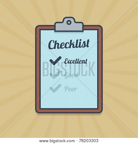 Checklist illustration in flat style.