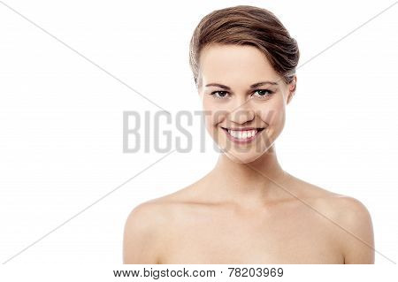 Pretty Woman With Healthy Clean Skin