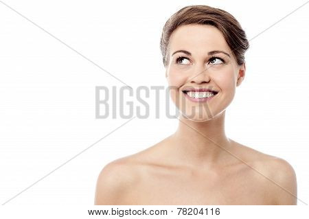 Elegant Woman With Bare Shoulders