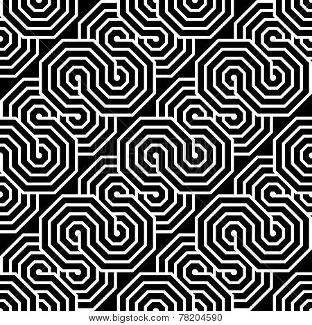 Design Seamless Monochrome Zigzag Geometric Pattern