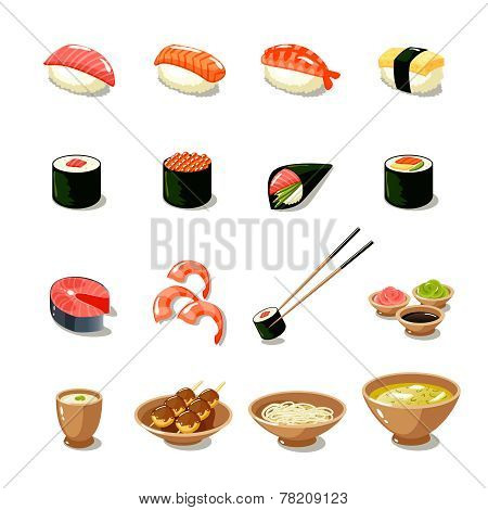 Asia Food Icon Set