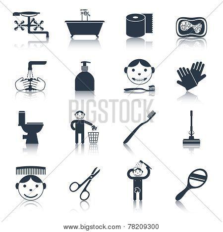 Hygiene Icons Black