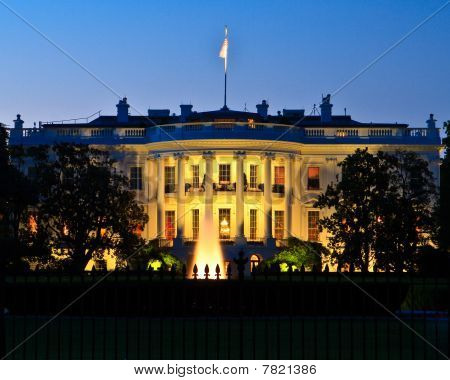White House at Twilight