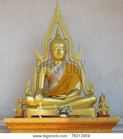 Seated Golden Buddha.