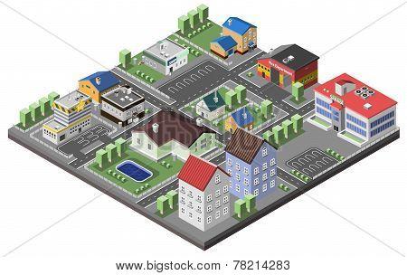 Suburban Concept Isometric